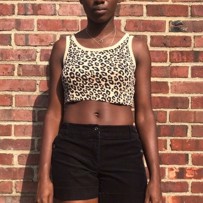 StarGray's Shop Reworked Leopard Print Cropped Tank Top