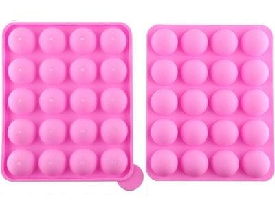 Junxave 20-Cavity Silicone Cake Pop Mold