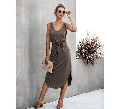 Longwu Drawstring Midi Dress