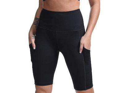 DILANNI Women High Waist Yoga Shorts