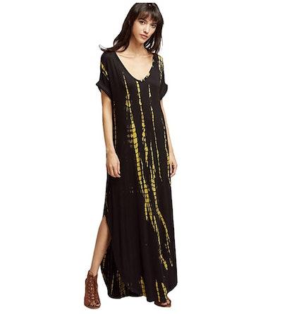 MakeMeChic Women's Long Dress with Pockets
