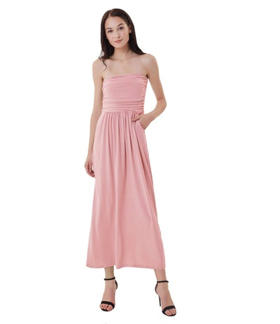 GRACE KARIN Strapless Casual Maxi Dress