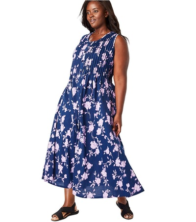 Woman Within Women's Plus Size Floral Dress