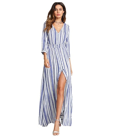 Milumia Women's Button Up Maxi Dress