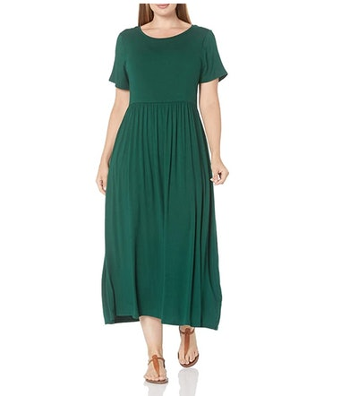 Amazon Essentials Short-Sleeve Waisted Maxi Dress