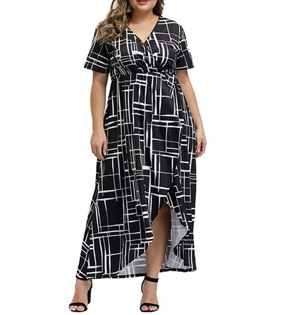 Allegrace Women Plus Size Maxi Dress