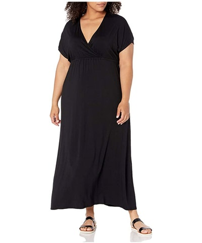 Amazon Essentials Women's Plus Size Surplice Maxi Dress