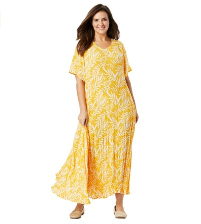 Woman Within Women's Crinkle Dress
