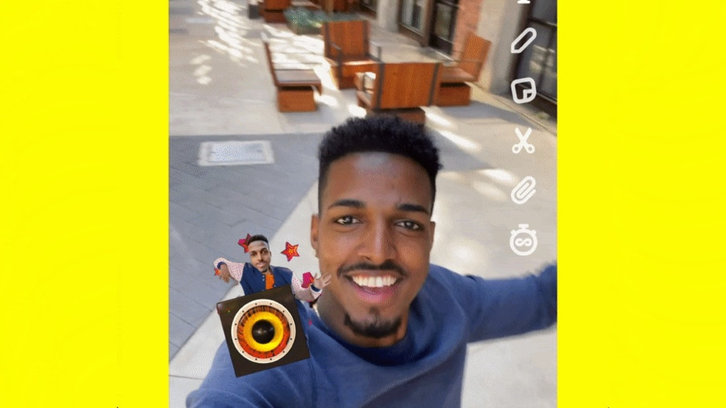 Here's how to use Snapchat's new Cameos Stickers.