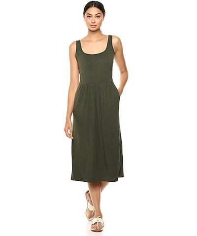 Daily Ritual Women's Jersey Sleeveless Empire Waist Midi Dress