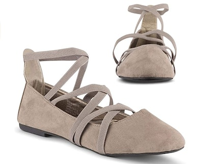 Twisted Strappy Flats