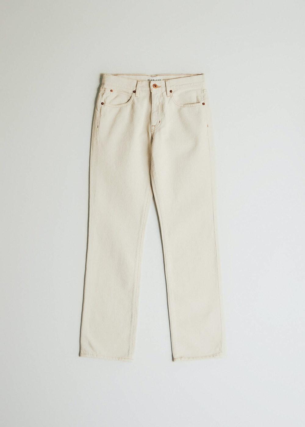 Tyler Straight Jean in Cream