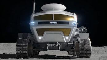 A rear-view render of the Lunar Cruiser.