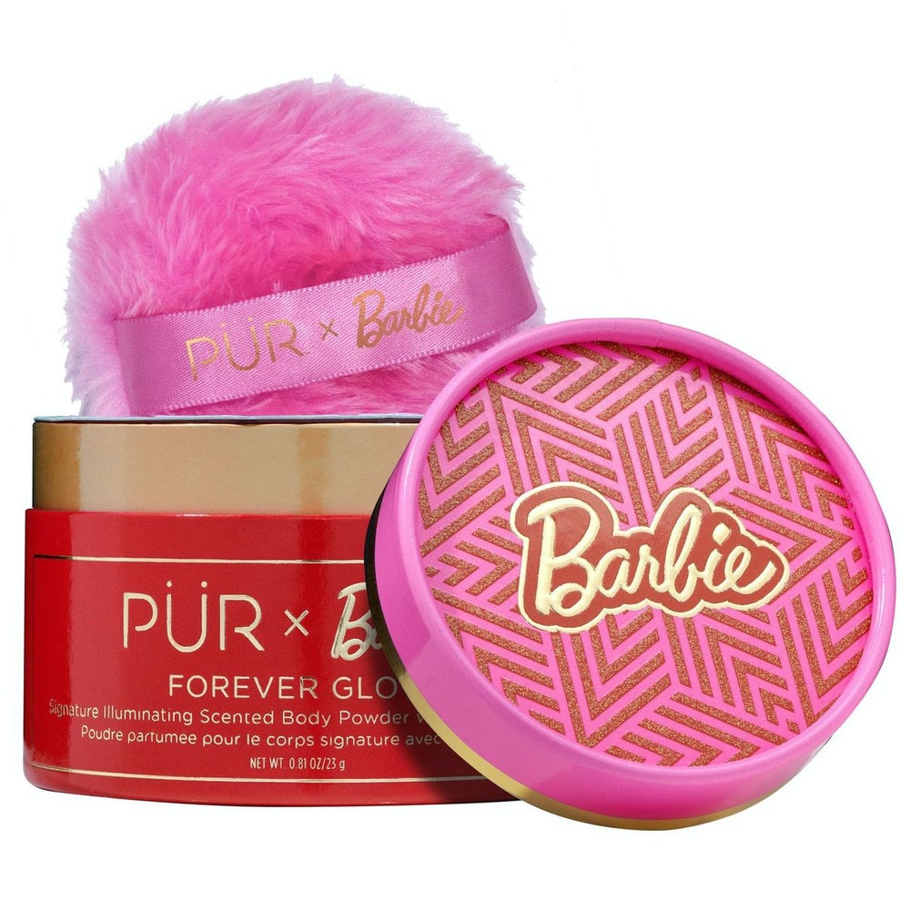 PÜR X Barbie™ Forever Glow Signature Illuminating Scented Body Powder with Applicator Puff