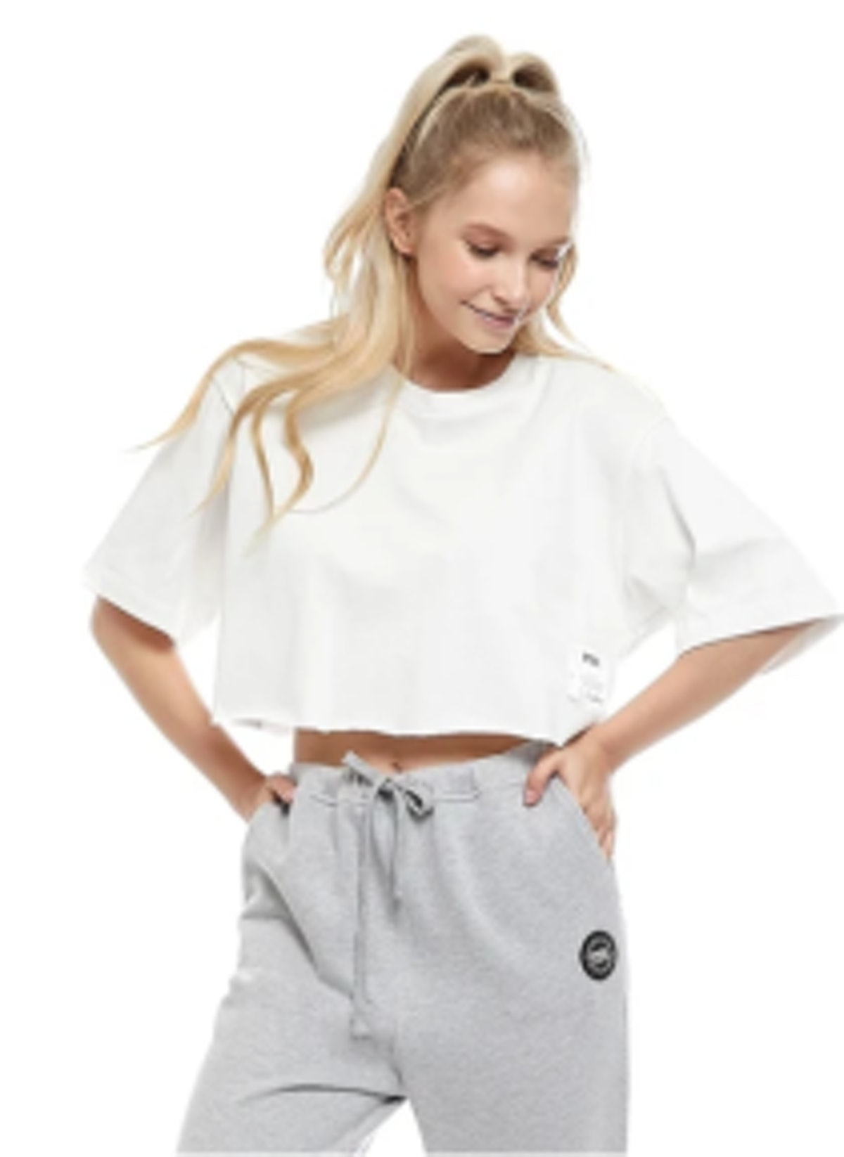 PSK Collective Recycled Jersey Cropped Tee
