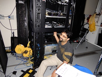 Joshi optimizing the system's central quantum network hub.