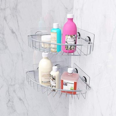 SMARTAKE 2-Pack Corner Shower Caddy