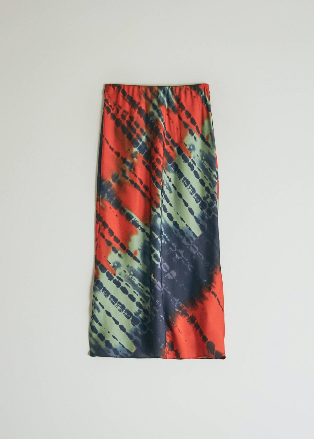 Marina Slip Skirt in Red Tie Dye