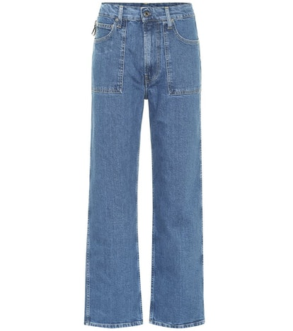 Factory high-rise straight leg jeans
