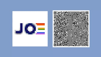 QR code for the Pride flag.
