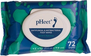 pHeet Antifungal & Antibacterial Foot Wipes (72-count)