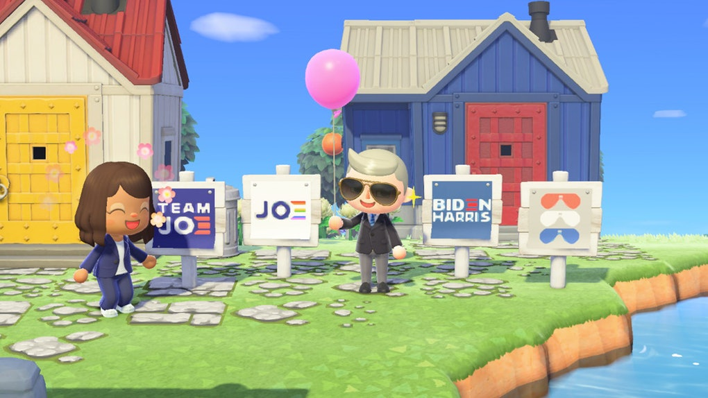 Biden-Harris 'Animal Crossing' yard signs are now available for download.