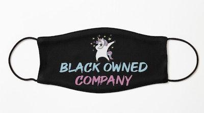 BLM Blue Unicorn Gifts Kids Mask