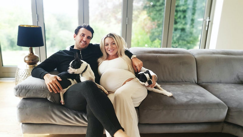 sheridan smith and jamie horn in their home