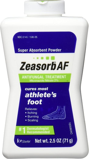 Zeasorb Antifungal Powder Treatment For Athlete's Foot, 2.5 oz. (3-Pack)