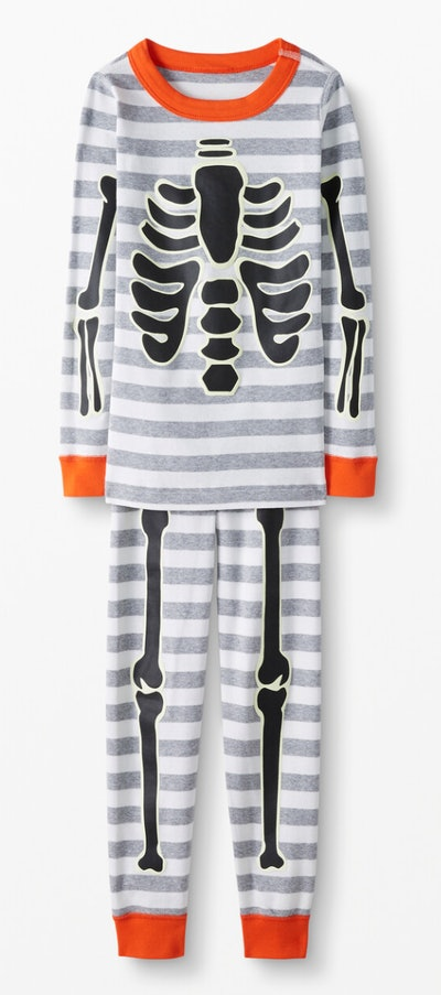 Long John Pajamas In Organic Cotton - Skeleton Crew