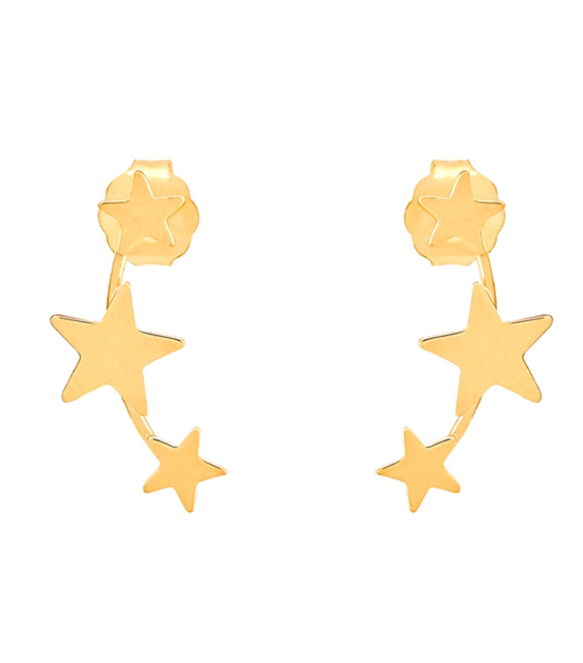 Three Star Climber Earrings