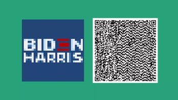 QR code for the Biden-Harris sign.