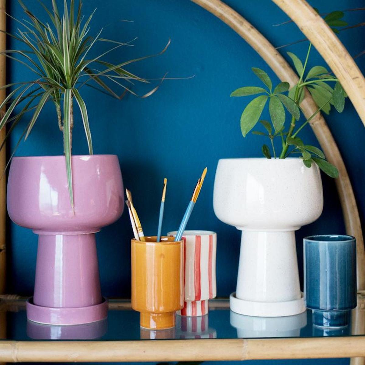Kaya 3-Piece Ceramic Planter by Justina Blakeney®