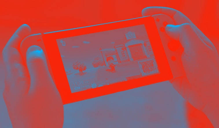 Nintendo Switch handheld.