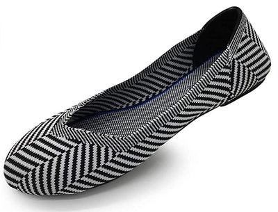Coolion Striped Ballet Flats