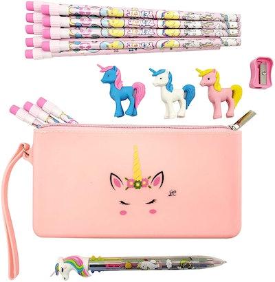Unicorn Pencil Case Stationary Set