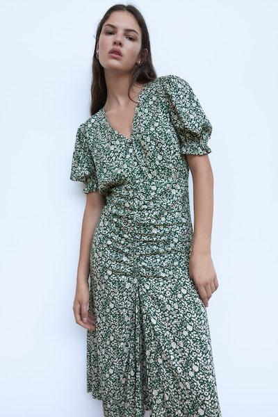 Zara Midi Floral Print Dress