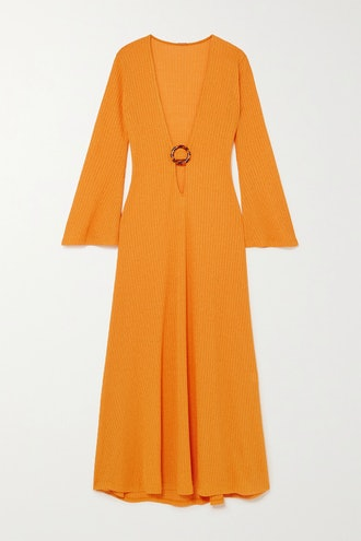 Junna embellished cutout ribbed-knit maxi dress