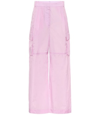 High-rise wide cargo pants