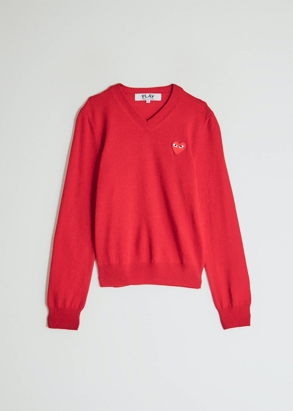 Play Red Heart V-Neck Pullover in Red