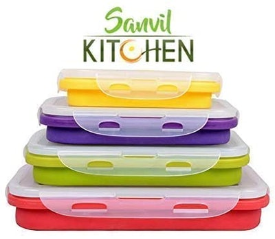 Sanvil Kitchen Collapsible Food Storage Containers (4-Pack)