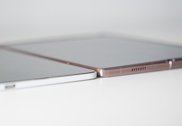 The different is less dramatic when both devices are unfolded.