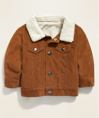 Unisex Sherpa-Lined Corduroy Trucker Jacket for Baby