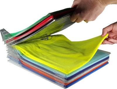 EZSTAX Closet Organizer and Shirt Folder (20-Pack)