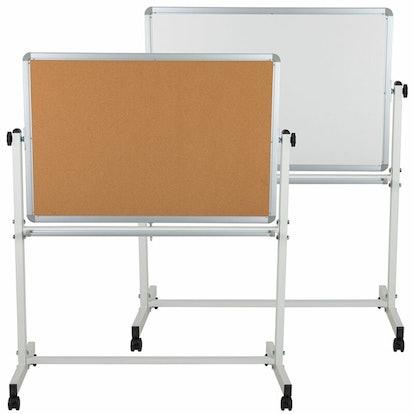 Nilde Reversible Magnetic, Mobile Bulletin and White Board