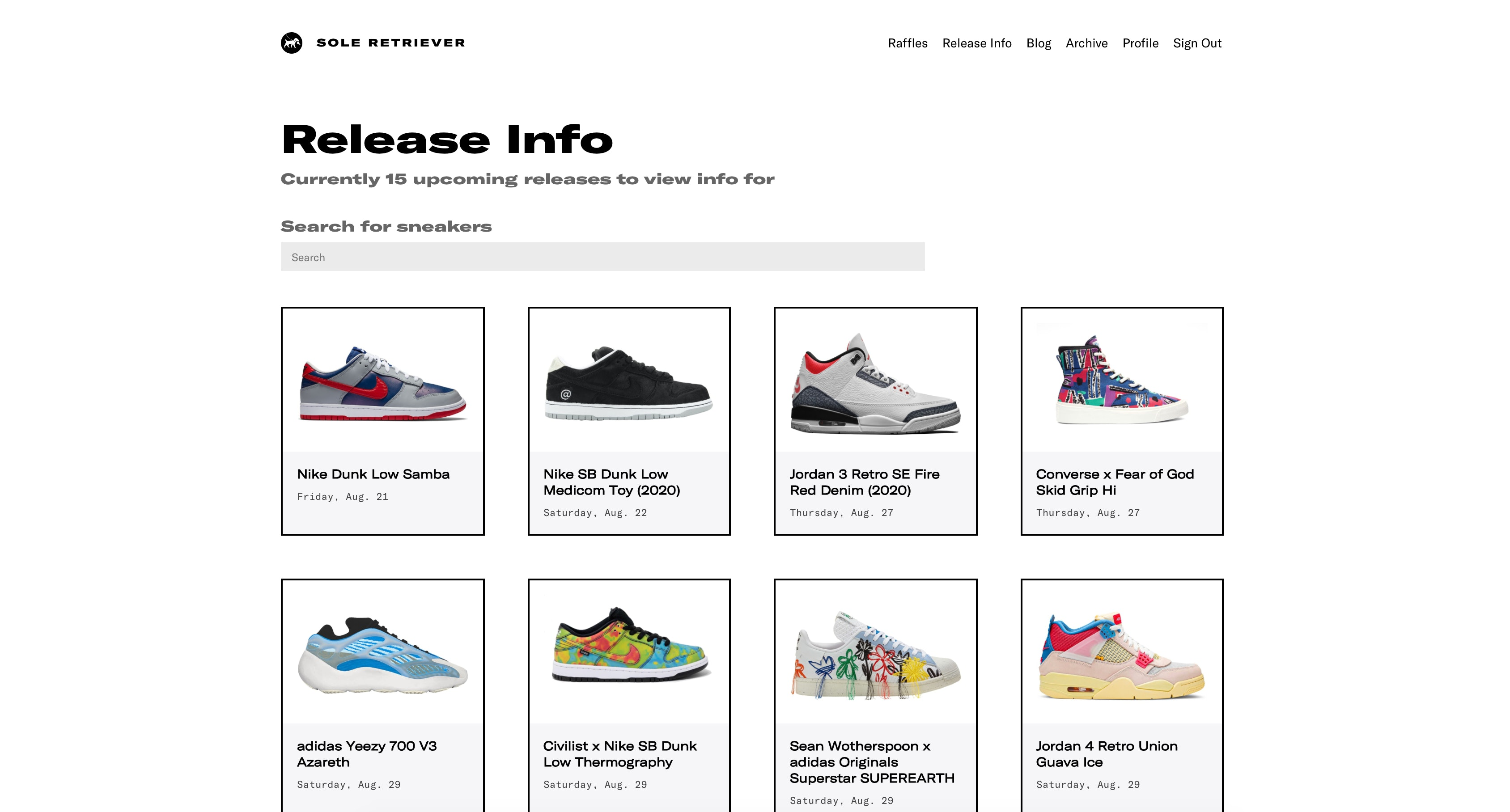 enter the most hyped sneaker raffles