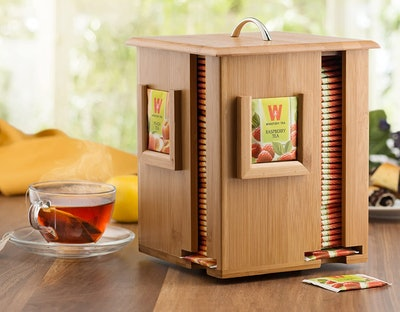 Bambüsi Tea Bag Caddy Organizer