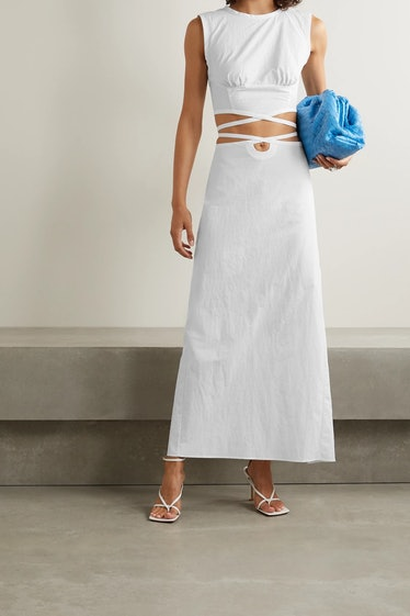 Lace-Up Maxi Skirt