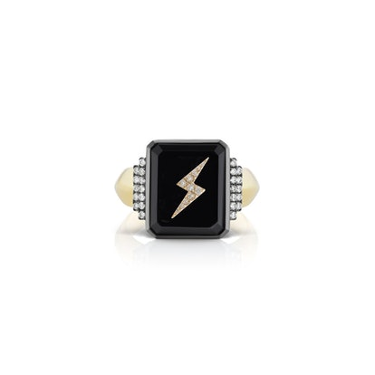 Lightning Bolt Signet Ring