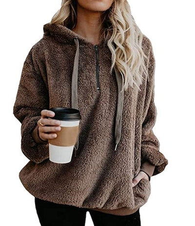 ReachMe Oversized Sherpa Pullover Hoodie